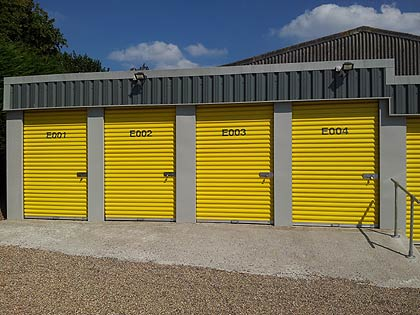 external garage units could solve your storage problems - great access for customers too - illustration